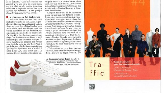 TRAFFIC #4 – Journal du textile – 15.01.2019