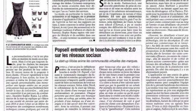 TRAFFIC 2 – Journal du Textile – 12-03-2019