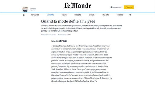 Le Monde – PFLL – 26.02