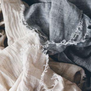 Grey Linen Scarf